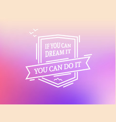 you can do it badge vector image