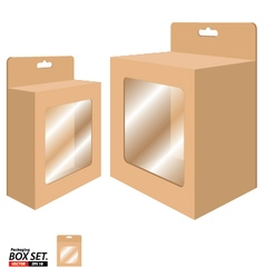 Box Packaging Design Packaging Box for Brown Paper vector image