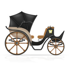 carriage for transportation of people vector image