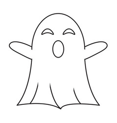 ghost april fools s day thin line vector image
