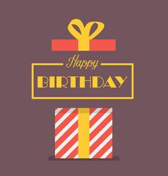 happy birthday with gift box vector image