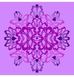 Lilac heart pattern vector