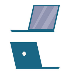 modern open laptop back and side view icon vector image vector image