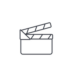 movie clapperboard thin line icon linear vector image vector image