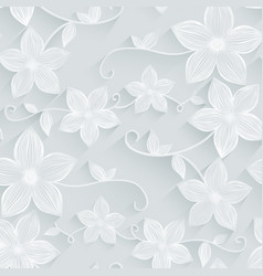 seamless background floral pattern vector image vector image