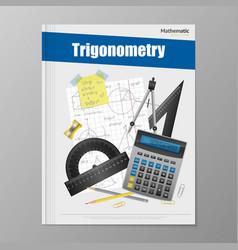 Trigonometry Flyer Template vector image vector image