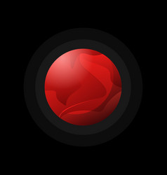 dark red planet flat style vector image vector image
