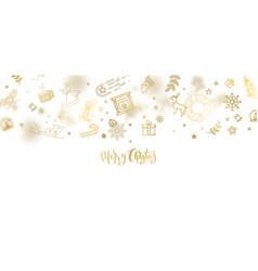 gold glitter christmas lettering design vector image