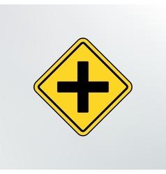 Intersection ahead road icon vector image vector image