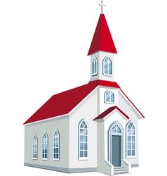 Little county christian church vector