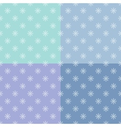 set of seamless pattern with snowflakes vector image vector image