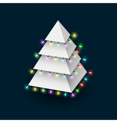 Christmas tree formed pyramide with luminous vector image vector image