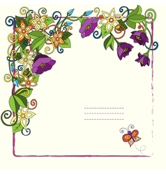 Floral card with place for your text vector image