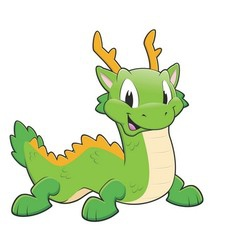 Green Chinese Dragon vector image vector image