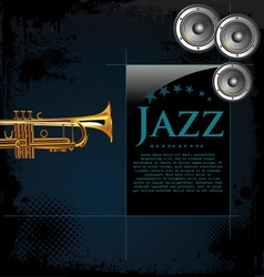 Jazz background poster vector image vector image