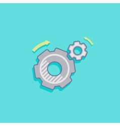 simple with a cogwheel icon flat design vector image