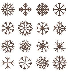 Snowflakes Set Flat Design vector image vector image