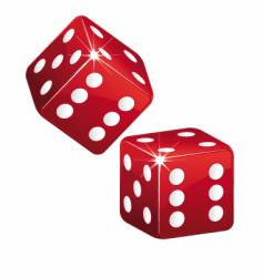 dices vector image vector image