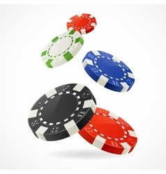 Falling Poker Chips vector image vector image