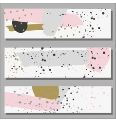 Freehand drawn baner ink line and dot ornament vector image vector image