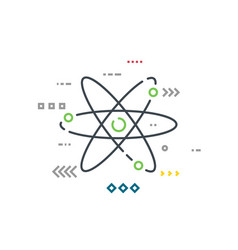 line style atom model vector image