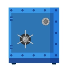 Security metal safe with empty space inside vector image