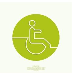 Symbol man on the wheelchair vector image