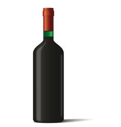 Wine bottle on white background vector image vector image