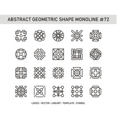 Abstract geometric shape monoline 72 vector