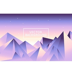 abstract landscape in low poly style in bright vector image