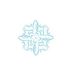 abstract ornament symbol logo vector image