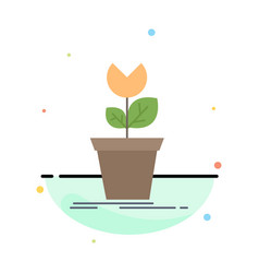 Adventure game mario obstacle plant flat color vector