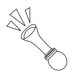 april fools day emblem thin line vector image