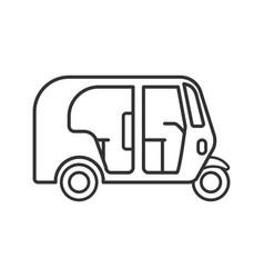 Auto rickshaw linear icon vector