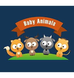 Baby animals design vector