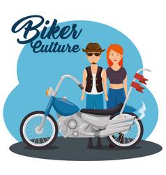 Biker culture background vector
