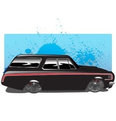 BlackWagon copy vector image