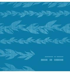 Blue vines stripes textile textured frame corner vector