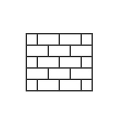 Brick wall outline icon vector