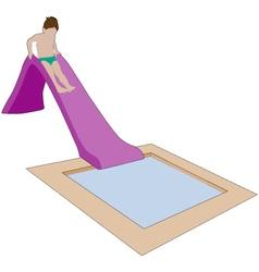 child on water slide vector image