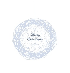 Christmas doodle ball for print web vector