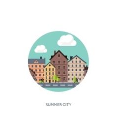 City silhouettes Cityscape vector