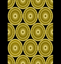 classic gold patterns on black background vector image