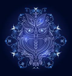 cute owl logo design vector image