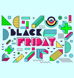 design poster for black friday sales vector image