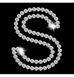 Diamond alphabet vector