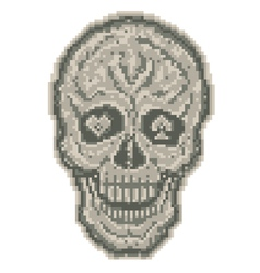 Digital skull vector