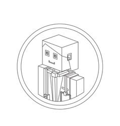Doctor isometric avatar vector
