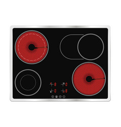 electric cook top ceramic surface vector image