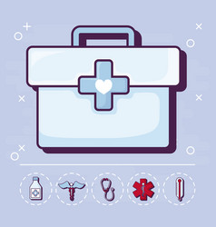 first aid and medical design vector image
